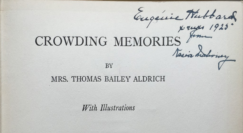 The owner's signature — in a different hand from the note — on the title page gives us Hubbard's first name and the date of the gift.